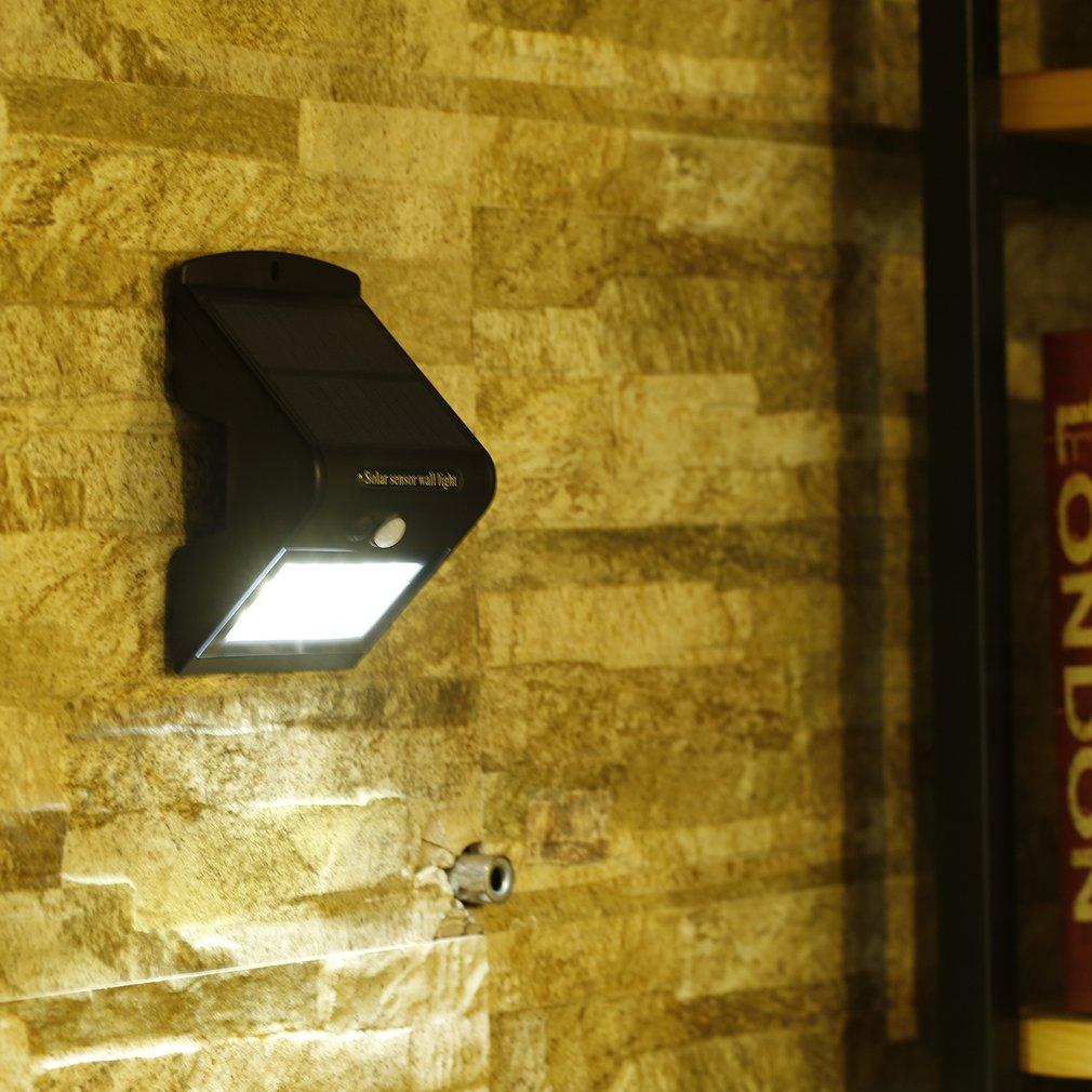 Waterproof Outdoor Intelligent Safety 15 LED 4 Modes Solar Sensor Wall Light