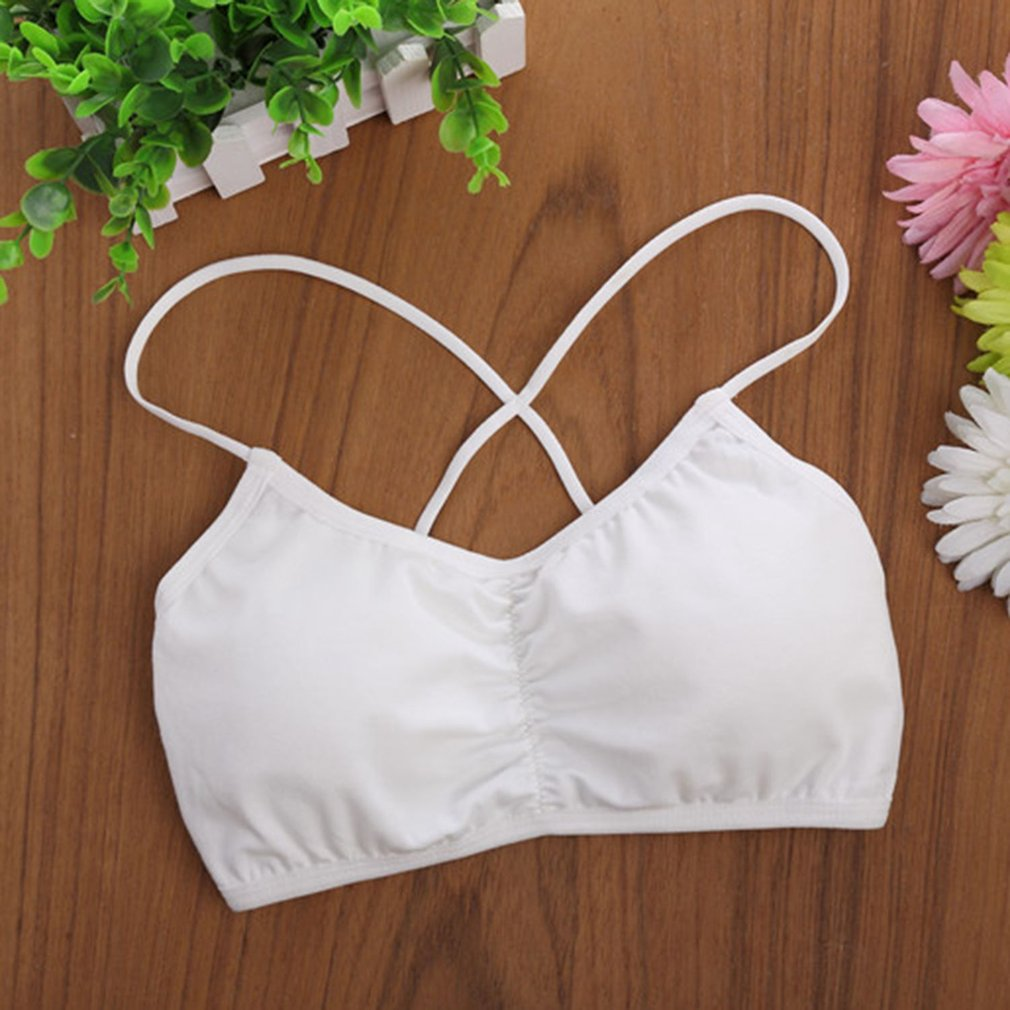 Colorful Full Cotton Bra Young Teenager Girl Student Narrow Shoulder Strap Bra