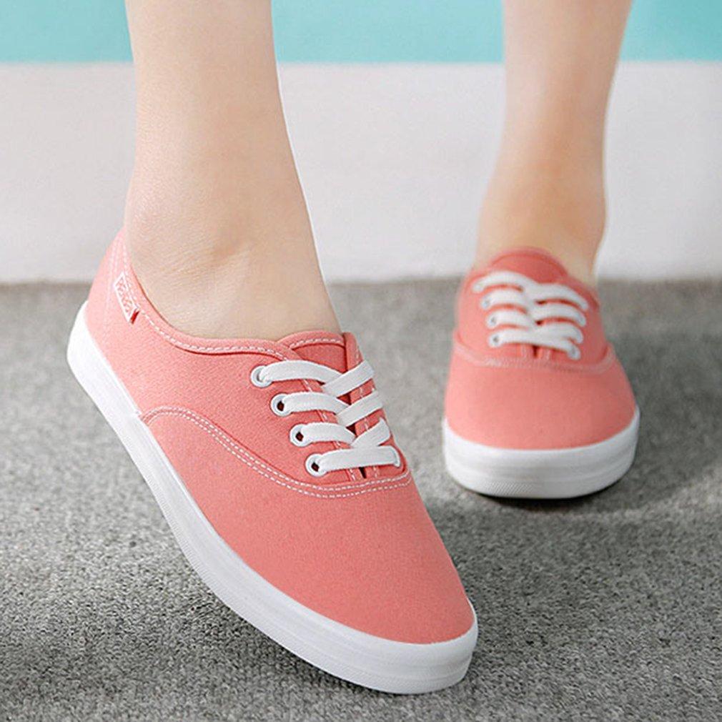 Women Canvas Shoes RenBen Pure Solid Color All Match Clothes Nurse Flat Shoes
