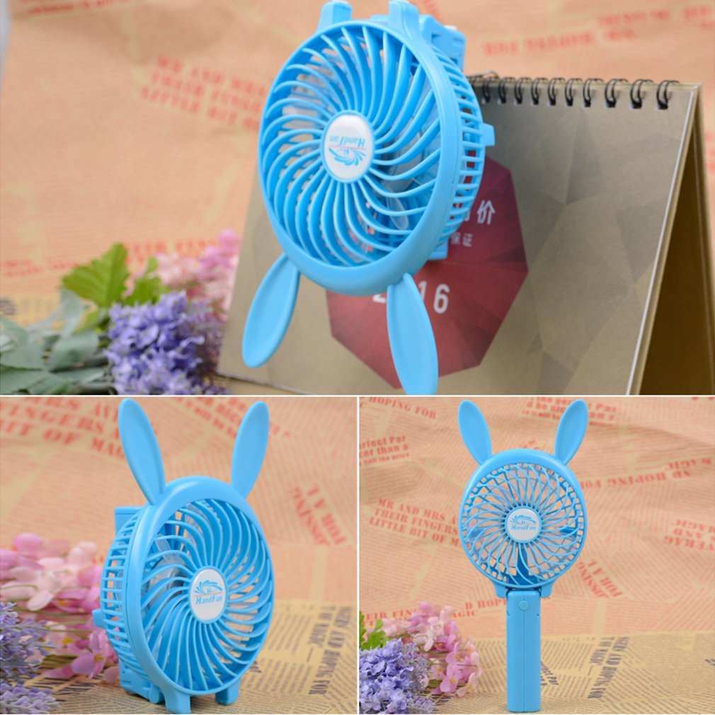 Unique Disign Speed USB Handheld Battery Rechargeable Multifunctional Fan