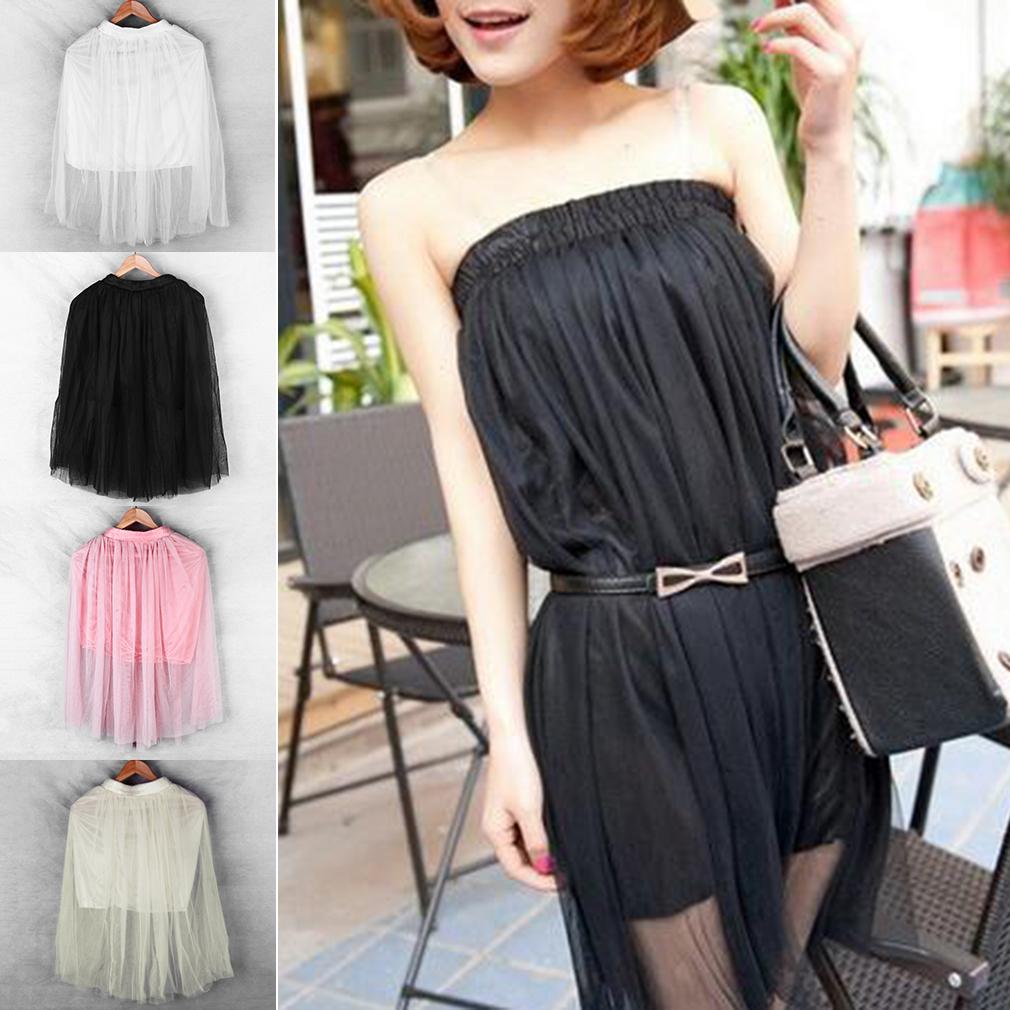 Lady Lace Veil Full skirt Ball Gown Net yarn Long Skirt Beach Slim Waist