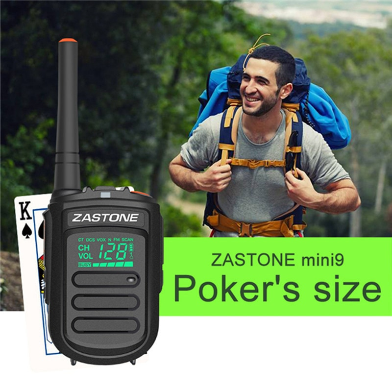 Zastone Mini9 DMR Mini Portable Digital Walkie Talkie 2W UHF 400-470MHz HF Transceiver Communicator Handheld Two-Way Radio