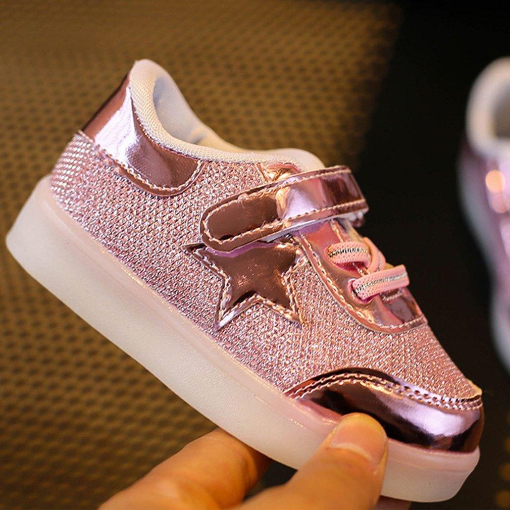 Cute Children Shoes Luminous Boys Girls Sports Shoes Flashing LED Shoes