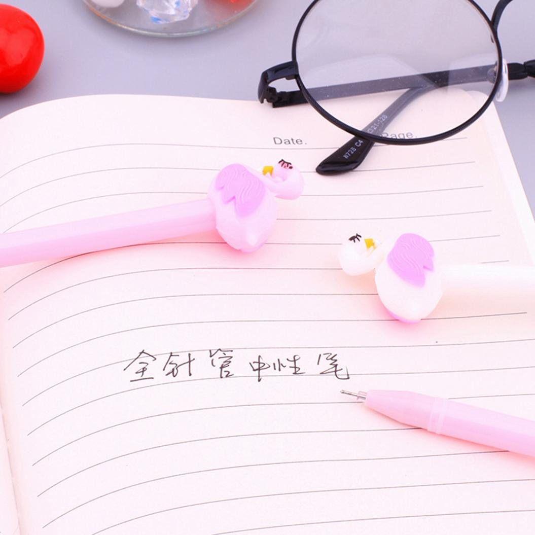 0.5mm Cute Flamingo Swan Signature Gel Ink Writing Pen Office School Stationery