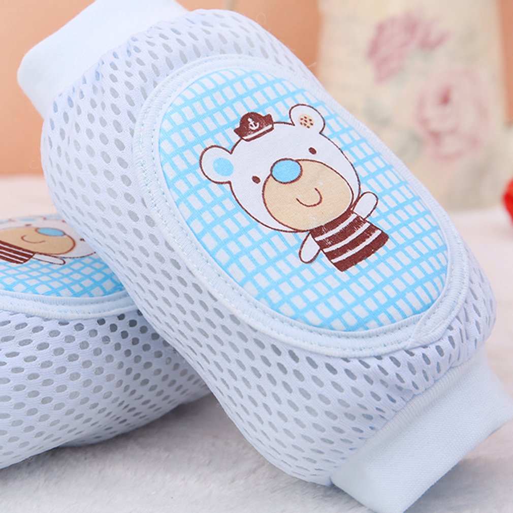 Lovely Cartoon Sponge Padded Child Toddler Kids Baby Crawling Elbow Cushion Kneepad Breathable Mesh Safety Protective Knee Pad