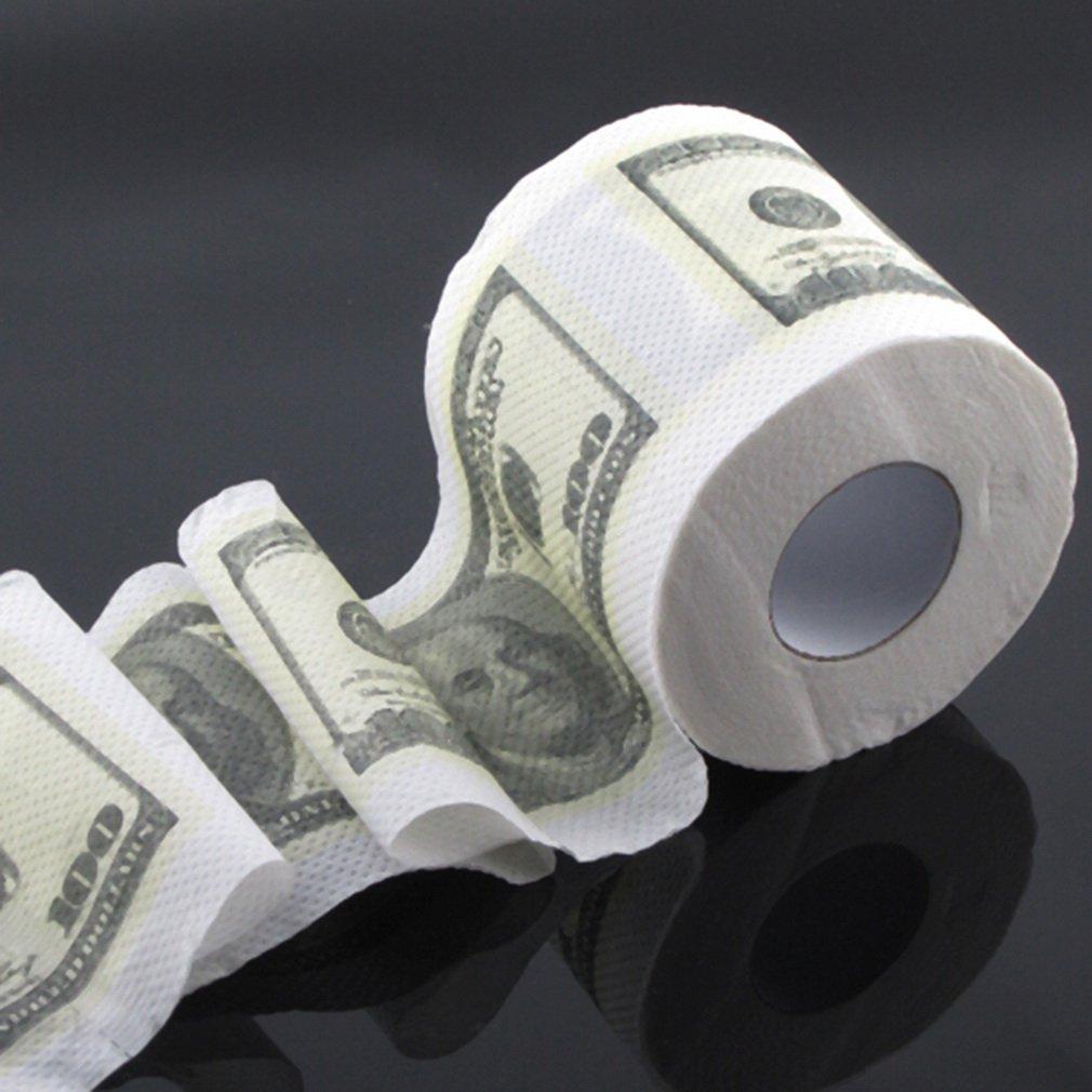 One Hundred Dollar Bill Toilet Paper Novelty Fun $100 TP Money Roll Gag Gift