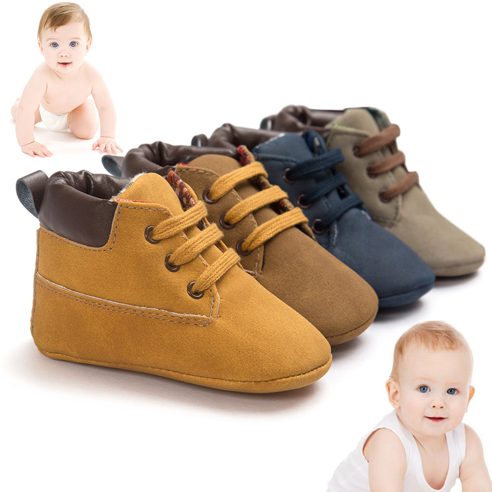 Newborn Baby Kids Boys Classic Handsome First Walkers Shoes Soft Soled Boots