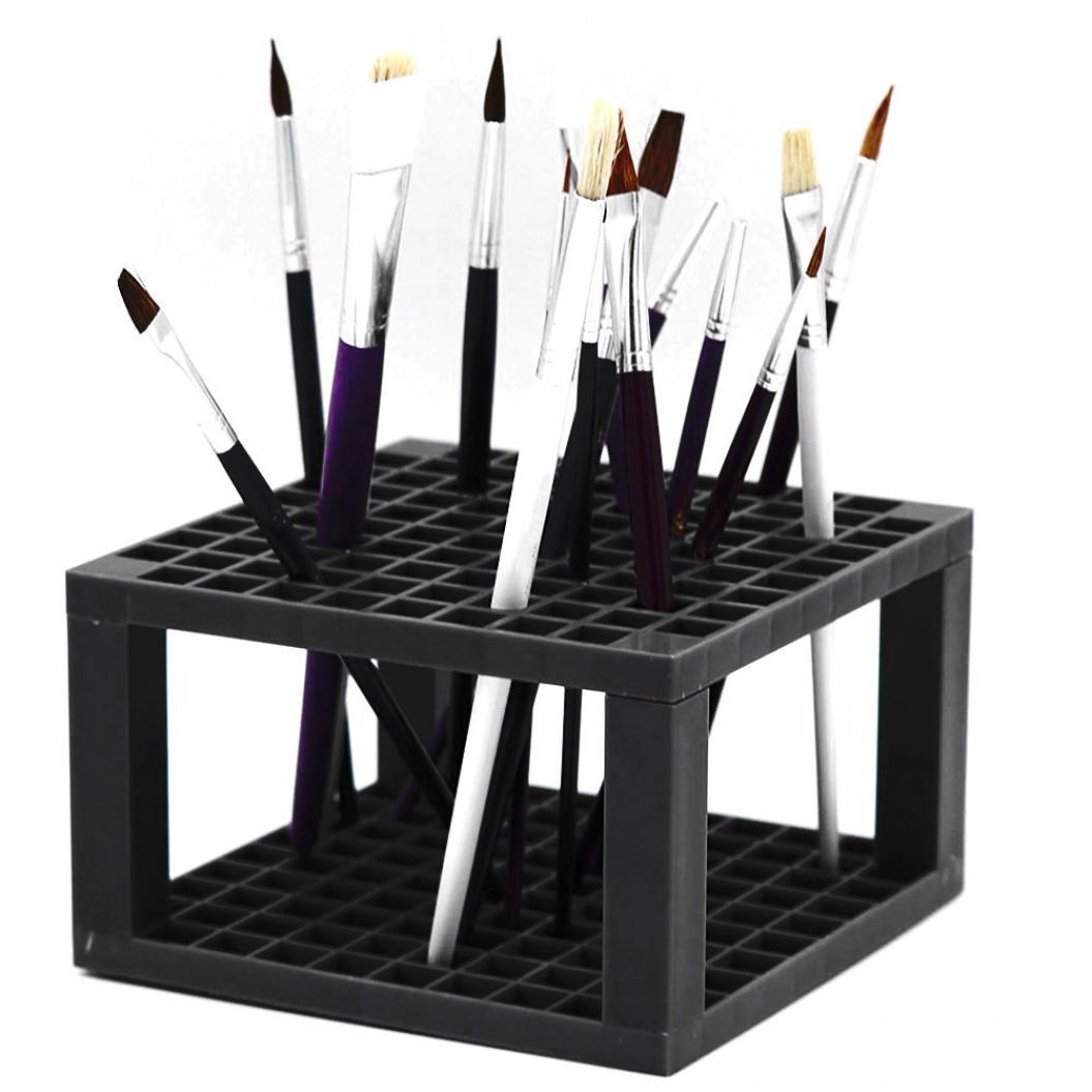 96-slot Painting Brush Pen Storage Holder Stand Organizer Rack Drawing Supplies