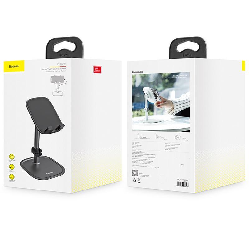 BASEUS Brand Literary Youth Desktop Bracket Metal Body Aluminum Alloy Tablet Holder For 3-10.5 inch Universal Phone & Pad-71df8c0cDR2cxM-19.3a29532cBoGjwl-