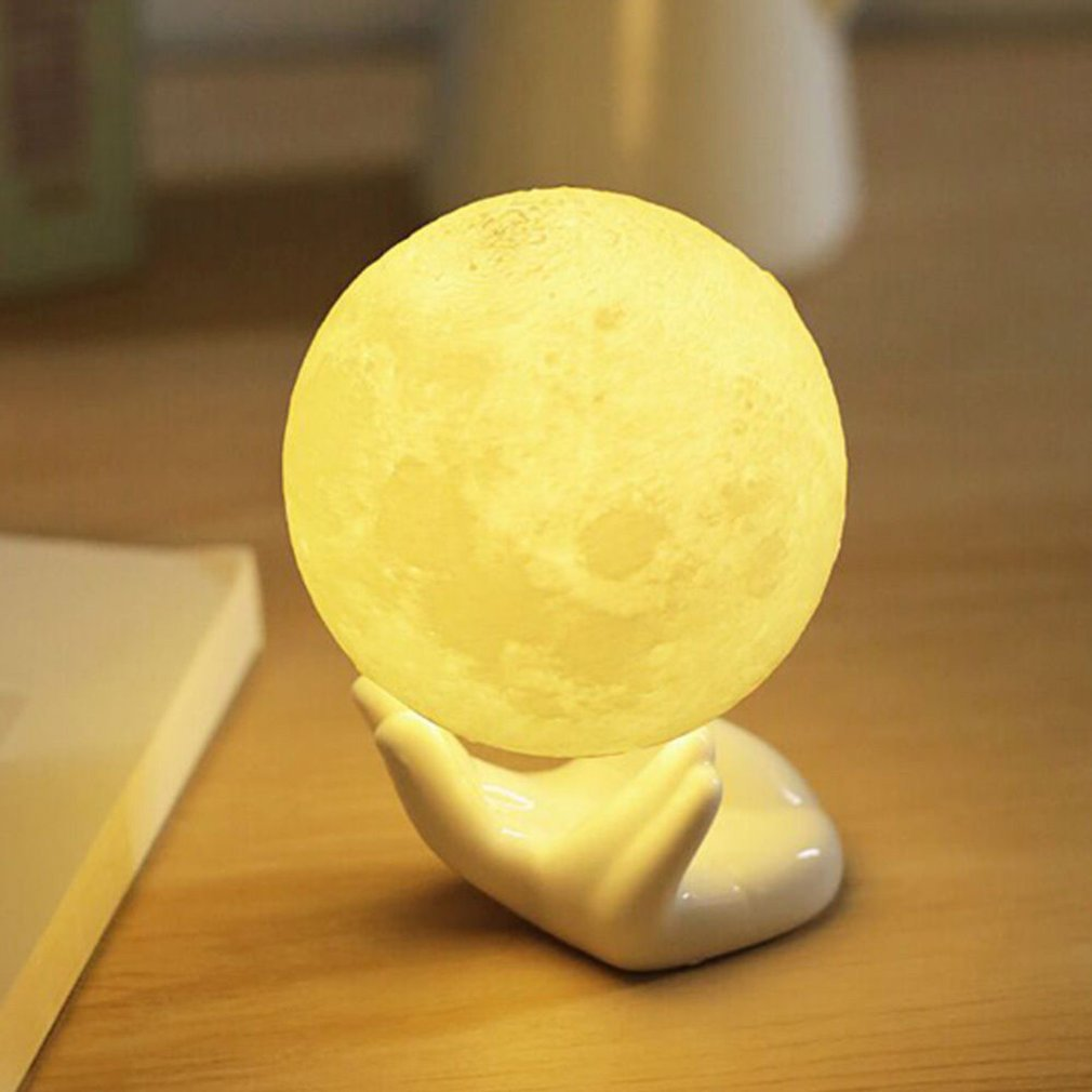 3D Print Girlfriend Birthday Gift Night Light Moon Light Touch Control LED