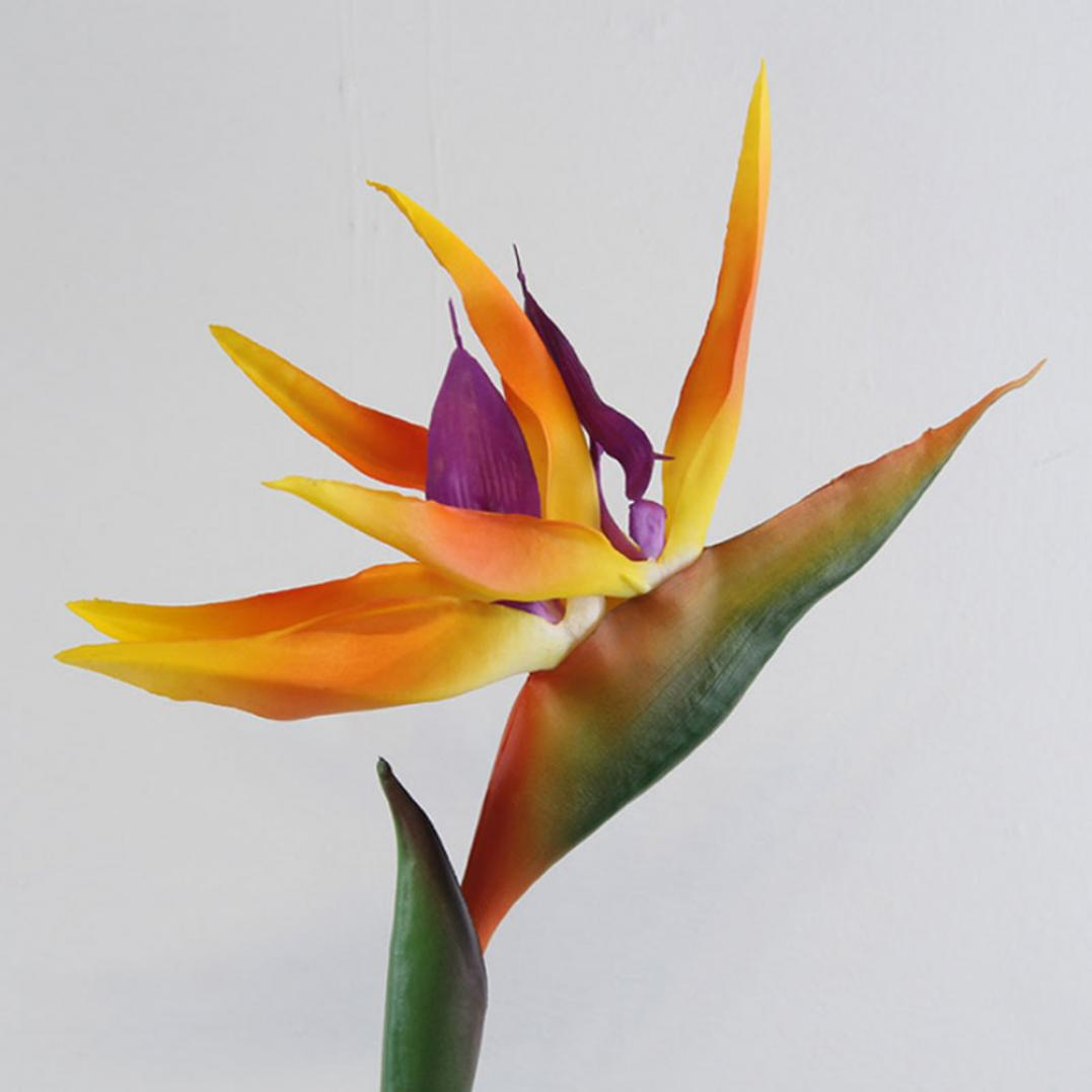 Artificial Flower Bird Of Paradise Fake Plant Silk Strelitzia Reginae Home Decor