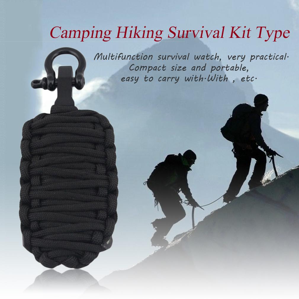 EMAK Survival Kit Type U Buckle Fire Starter Parachute Rope Needle Rescue Set