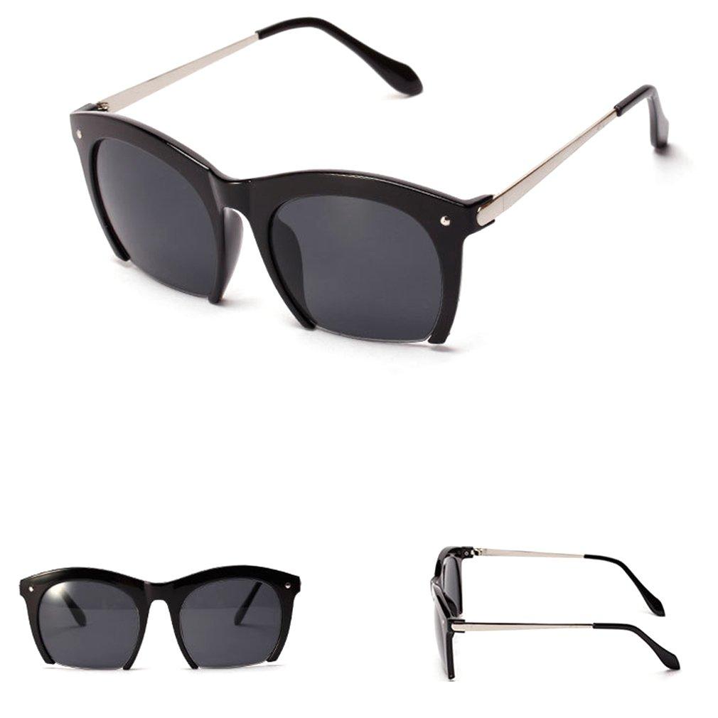 Girls Cute Half Frame Retro Eyewear Sunglasses White Framed Glasses
