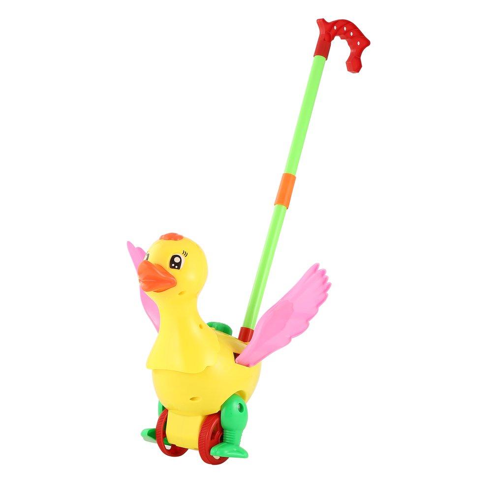 Push Animal Toys Duck Shaped Cartoon Cart Toys Baby/Toddler/Child Walking