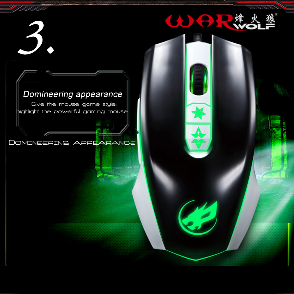 7 Buttons 3200DPI Gaming Mouse USB Wired Optical Computer Game Mouse Mice
