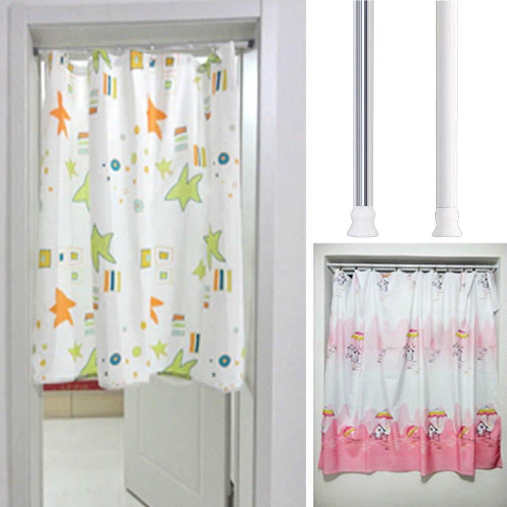JC207S Aluminium Alloy Retractable Shower Curtain Rod Bathroom Jackstay