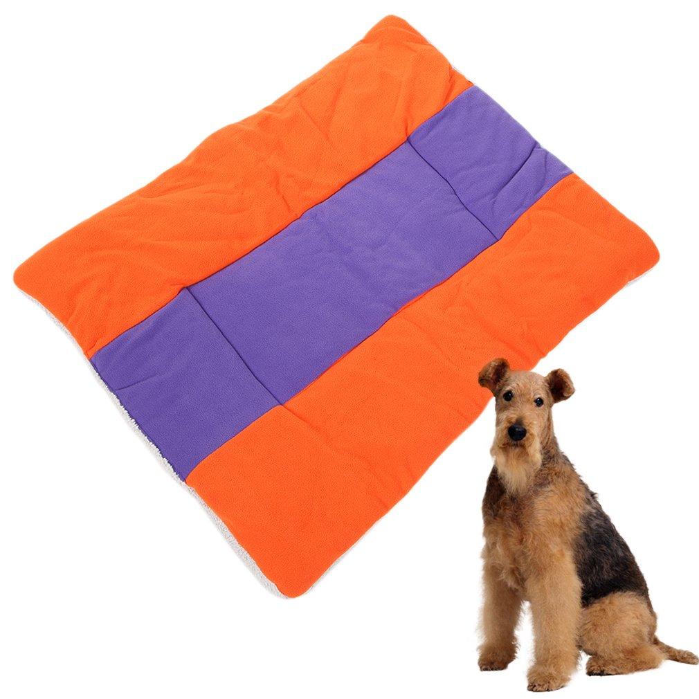 Warm Soft Fleece Pet Dog Kennel Cat Puppy Bed Mat Pad Kennel Cushion