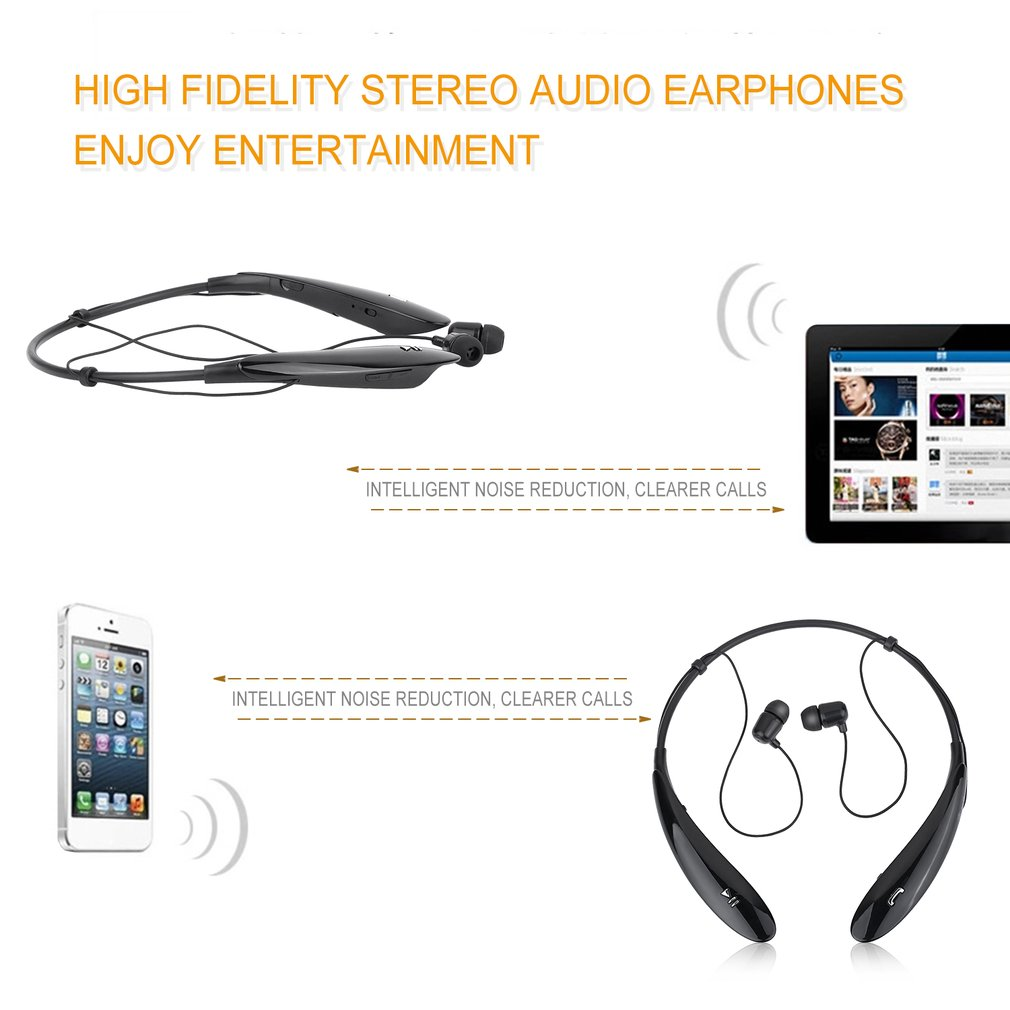 HBS-800 Bluetooth Sweat-proof In-ear Ring-necked Handsfree Stereo Headphone