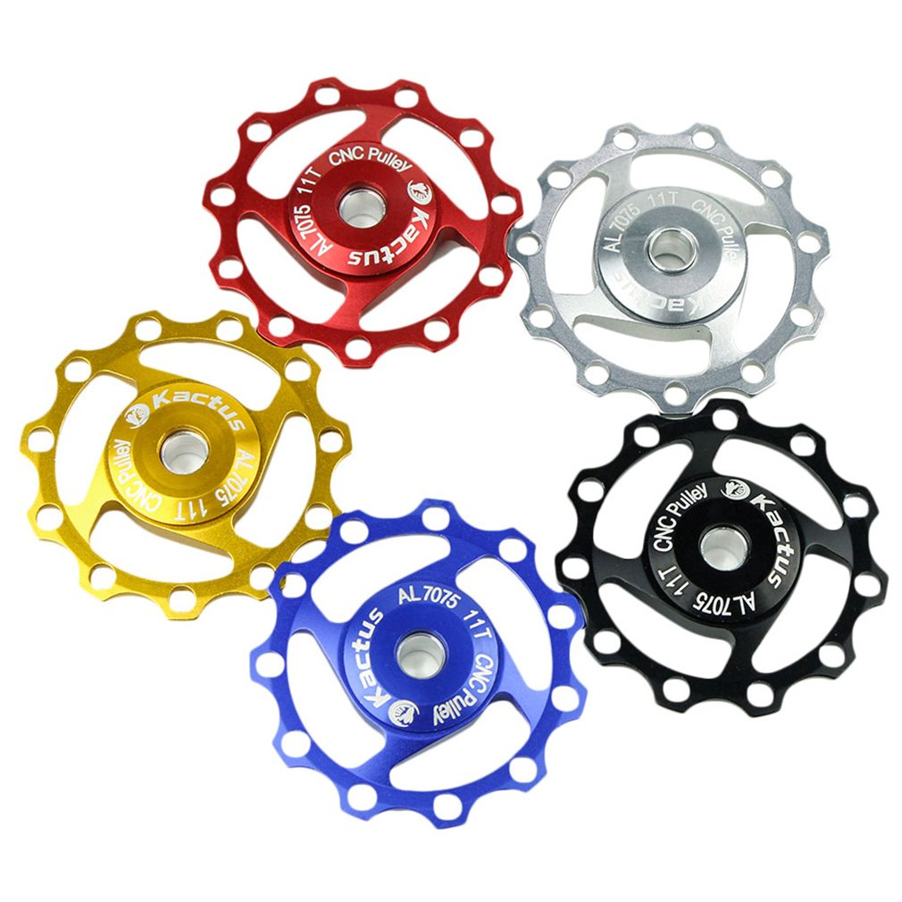 New KACTUS Aluminum Alloy Jockey Wheel Rear Derailleur 11T CNC Pulley 1PCS