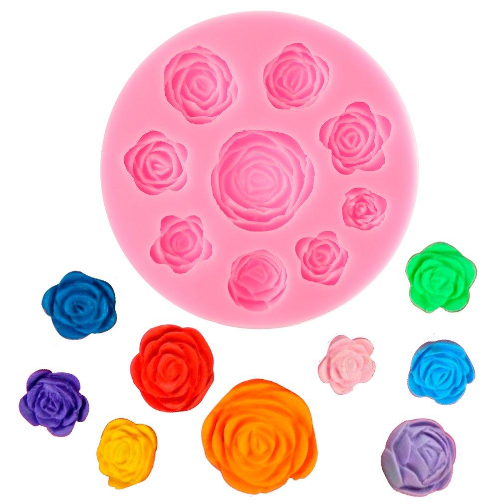 3D Silicone Rose Flowers Mold Fondant Cake Mold DIY Chocolate Baking Tool