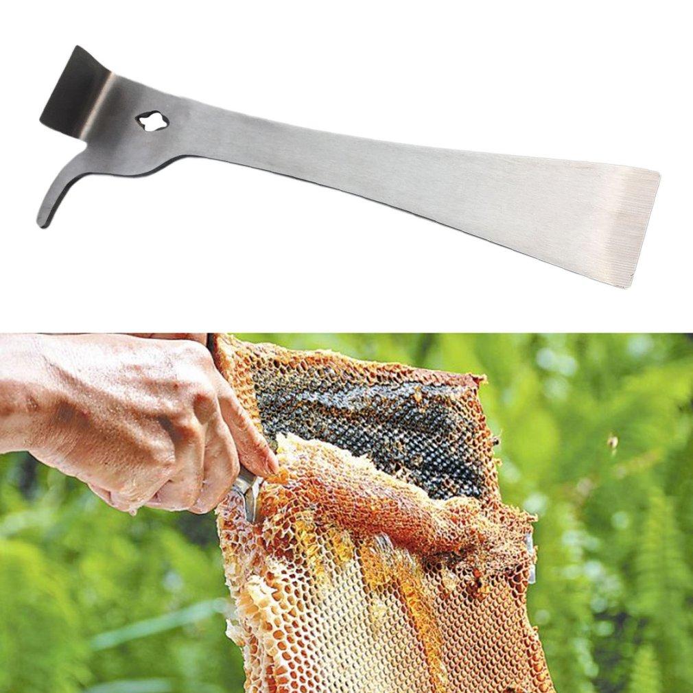 Stainless Steel Thumb Scraper Bee Honey Hive Beekeeping Equipment Tool