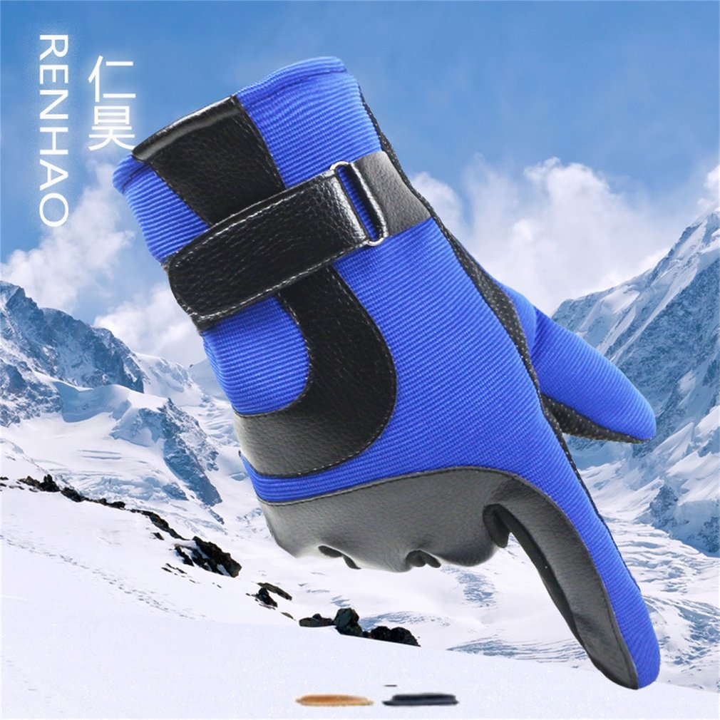 Men Warm Telefingers Gloves Plus Velvet Skiing Gloves Motorcycle Gloves