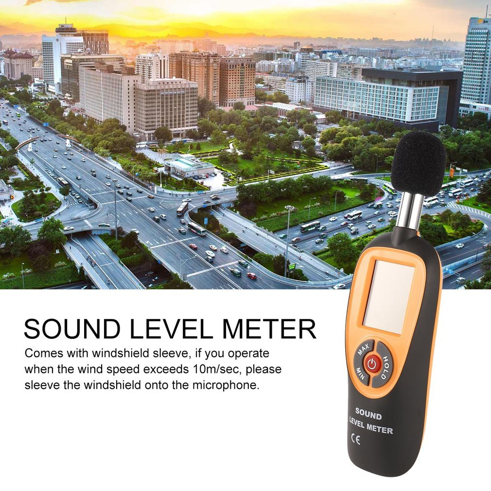 HT-90A Mini Portable Sound Level Meter With LCD Screen Display 30~130dB Instrumentation Noise Decibel Monitoring Testers