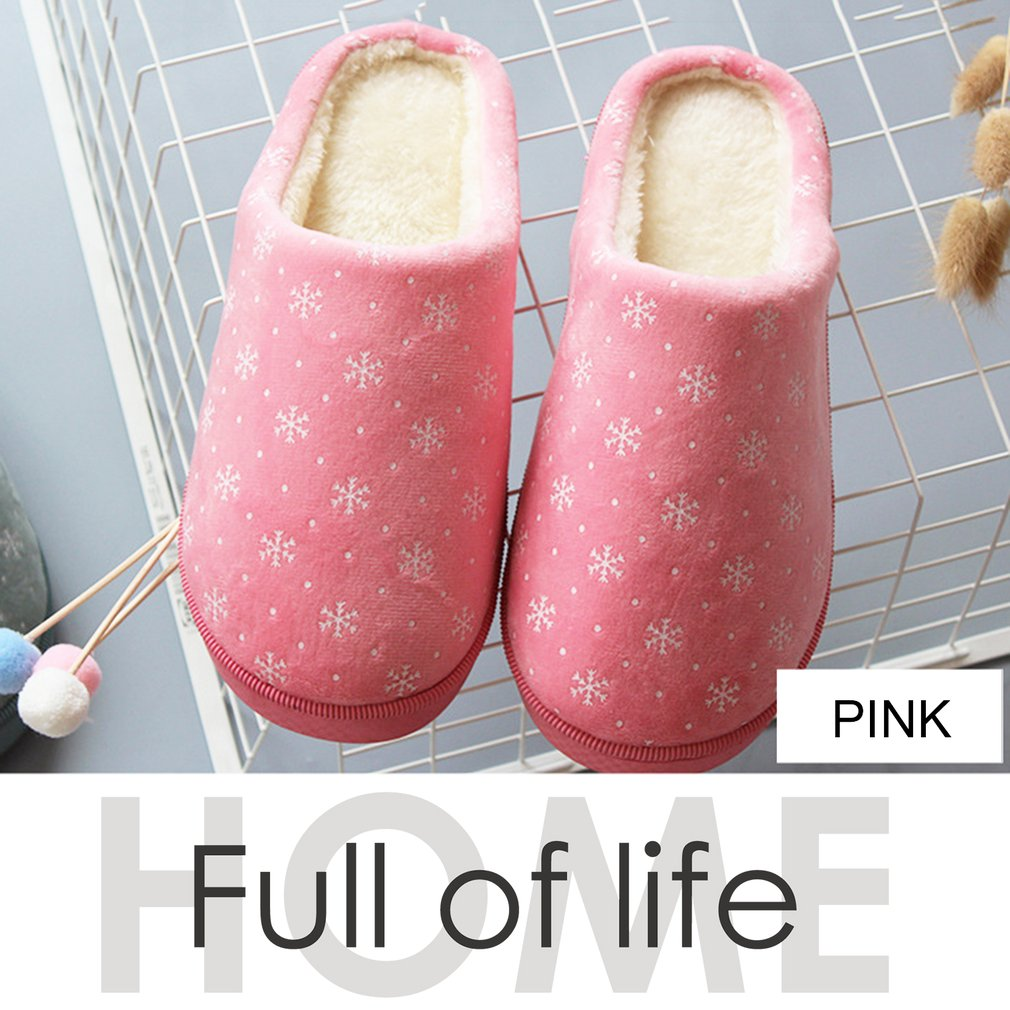 Unisex Winter Warm Ful Slippers Indoor Home Thickened Slippers Warm Shoes