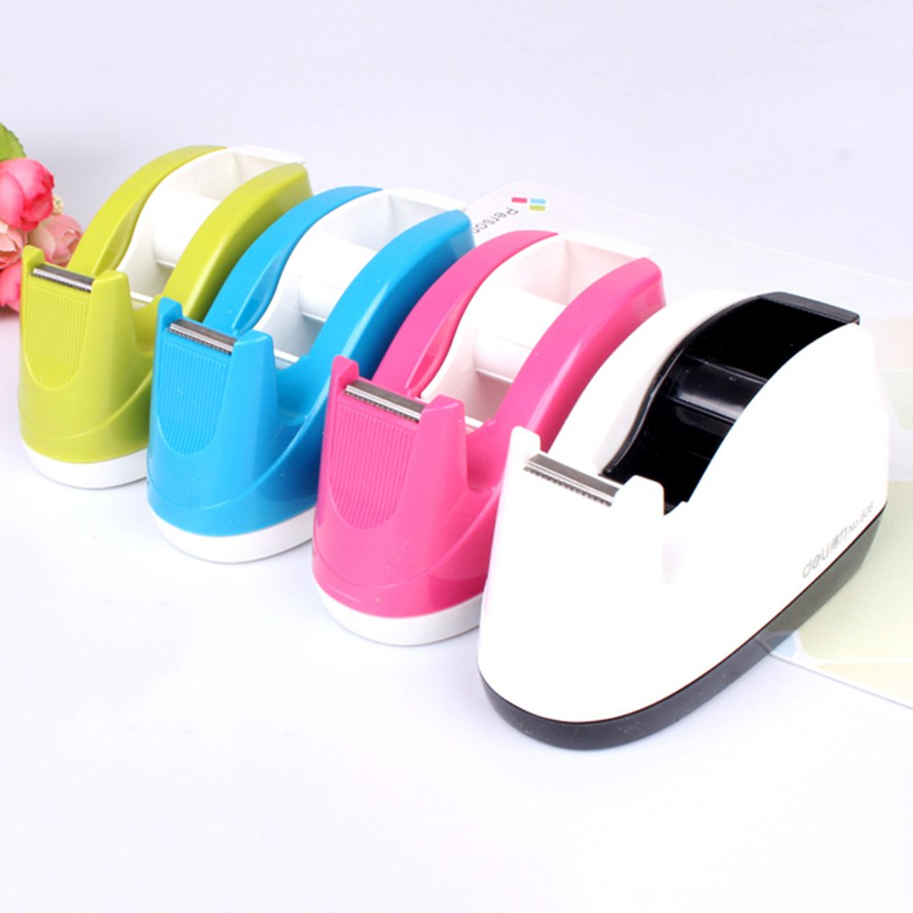 DELI 808 Tape Dispenser Candy Color for Adhesive Tape Width Less 18mm