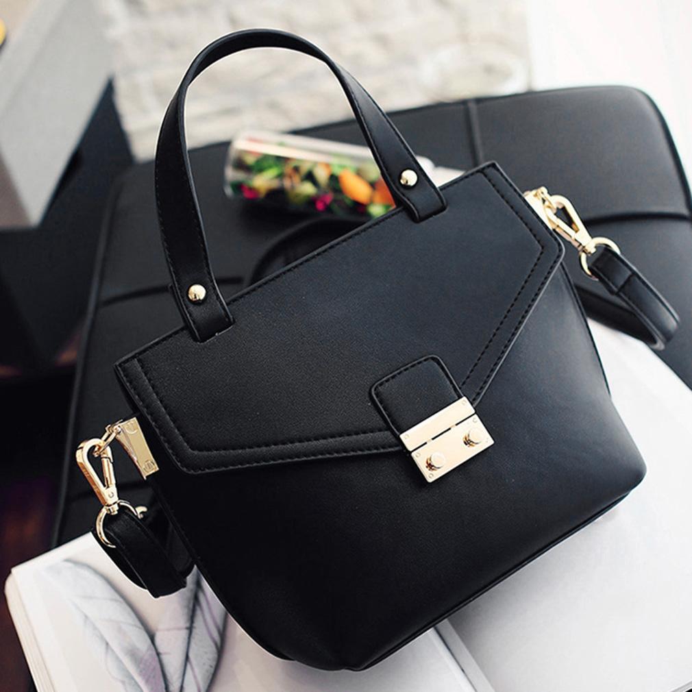 Simple All Match Woman PU Single Shoulder Bag Handbag Cross Street Style