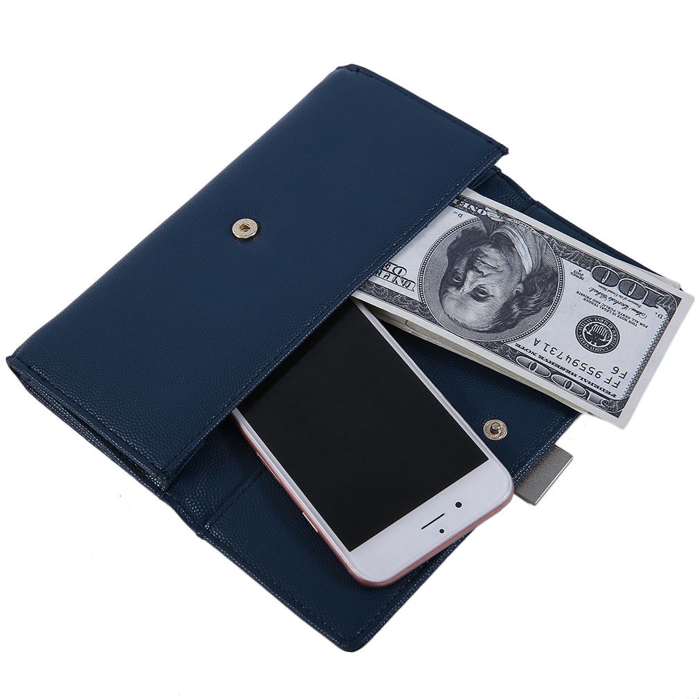 WEICHEN Creative B369-1C Women PU Leather Solid Color Money Wallet Purse
