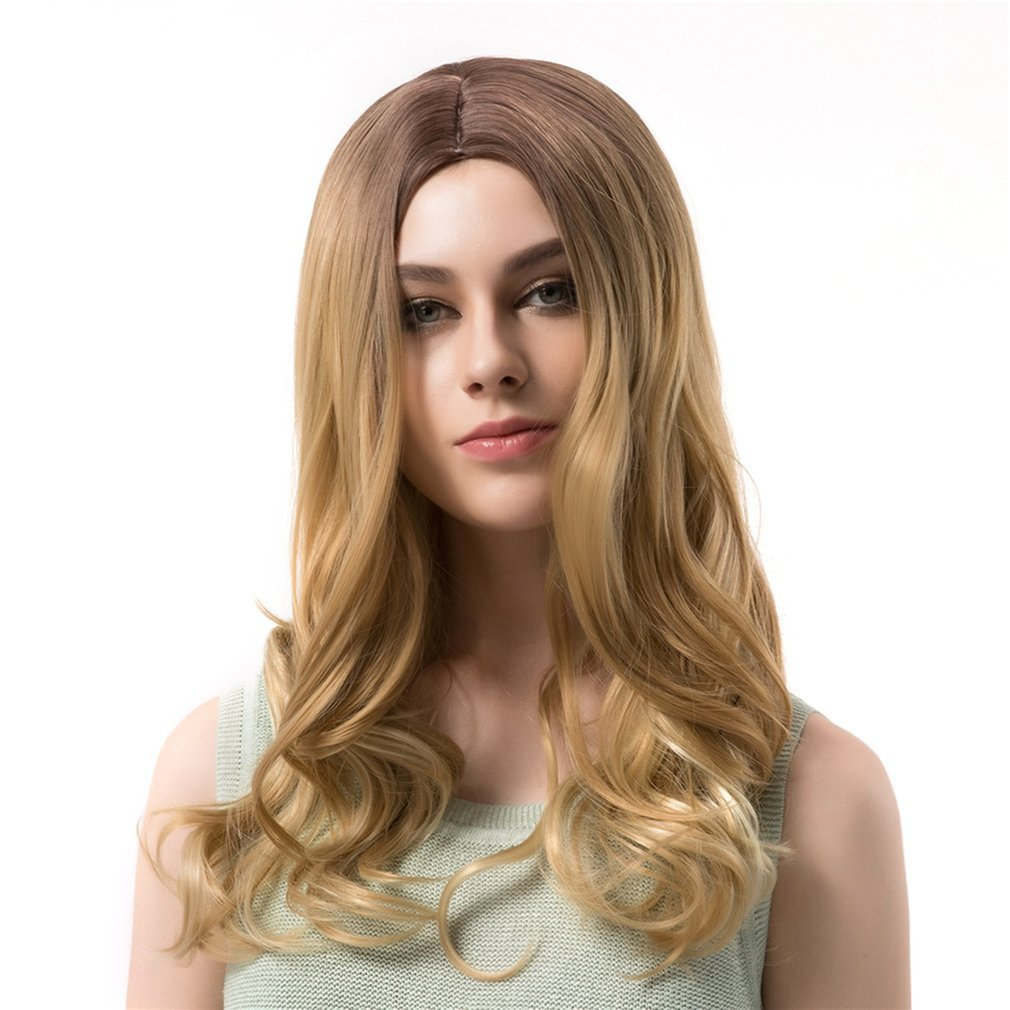 WIG365 LC092 Long loose Wave Light Brown Gold 56cm Women Synthetic Full Hair