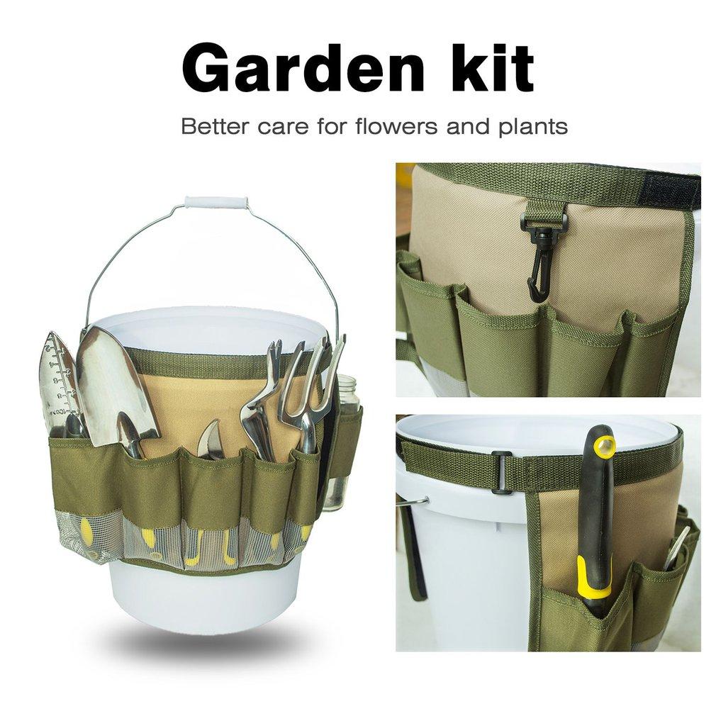 Multifunctional Oxford Cloth Garden Tool Bag Foldable Garden Bucket Bag