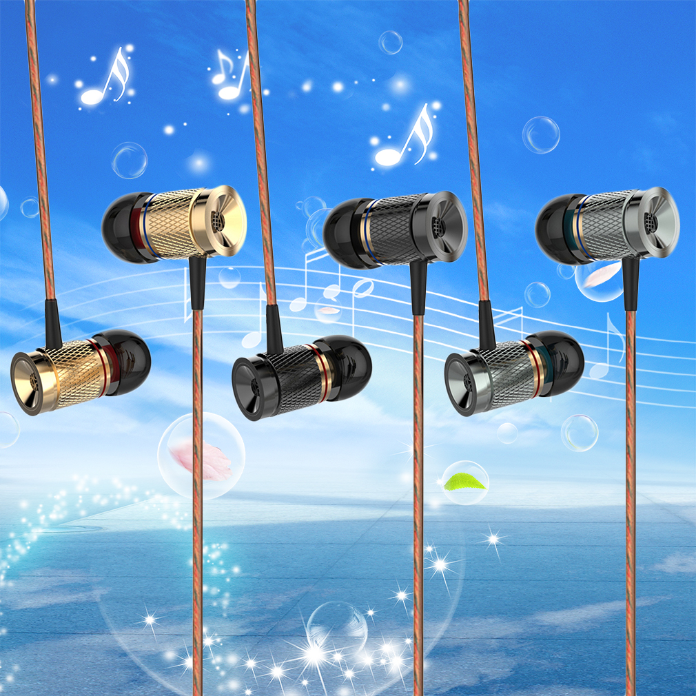 Magnetic Earphones Headphone Metal Headsets Super Bass Stereo Earbuds With Mic