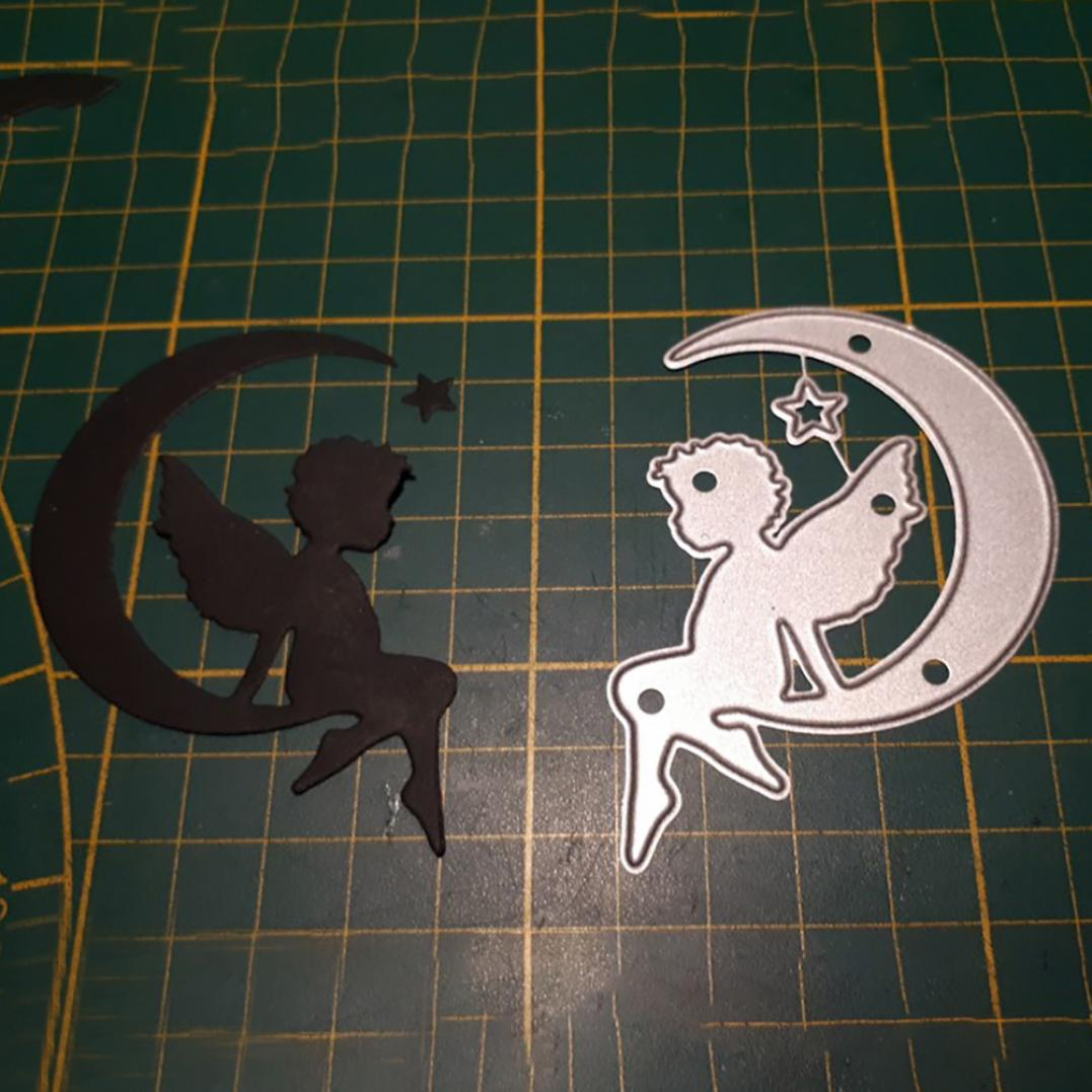 Angle on Moon Metal Cutting Dies DIY Scrapbooking Embossing Paper Cards Stencil