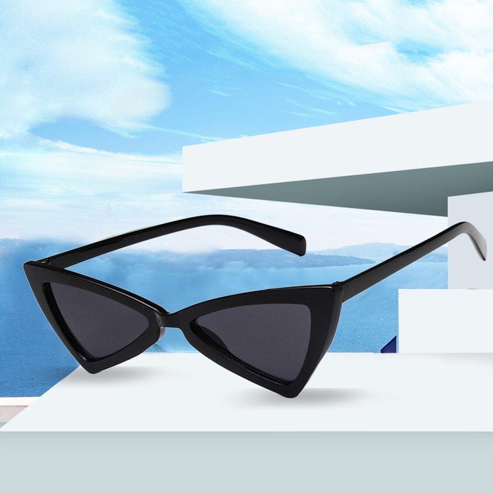 Trendy Design Women Sunglasses Vintage Irregular Triangle Shape Ladies Sunglass Cat's Eye Eyewear Glasses
