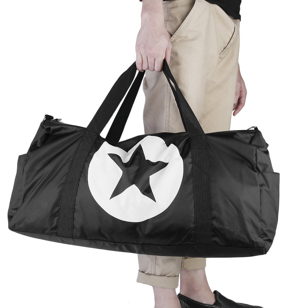 Unisex Five-Pointed Star Nylon Waterproof Travel Bag Gym Bag Large Capacity