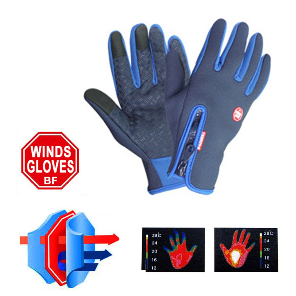 Outdoor Riding Cycling Gloves Full Finger Touch Screen Keep Warm Windproof