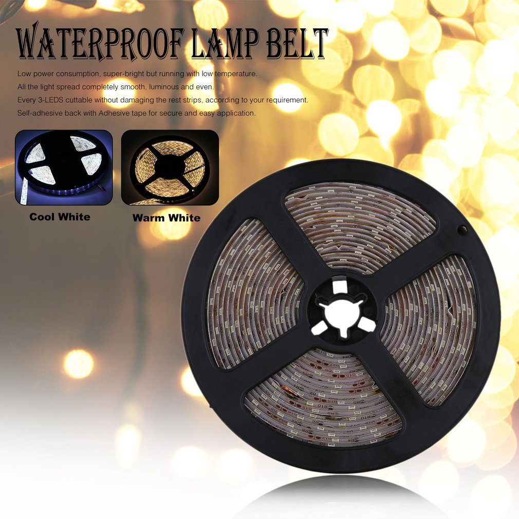 NON-Waterproof 5M 600LEDs 3528 SMD LED Strip Light Belt With Remote Control