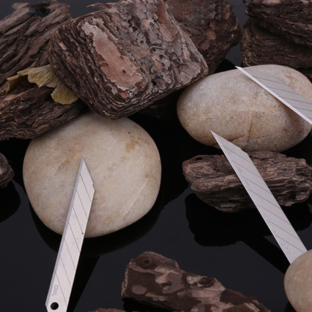 DELI 2011 Art Paper Cutting Knife Blades Low Carbon Alloy Steel Paper Blades