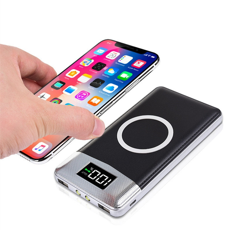 10000mah QI wireless Power Bank External Battery Bank Built-in Wireless Charger Powerbank Portable QI Wireless Charger