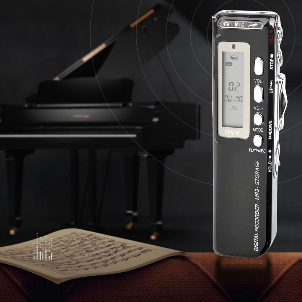 Maikou Portable 1.3-Inch 8GB Digital Voice Recorder w/ MP3 Player Function