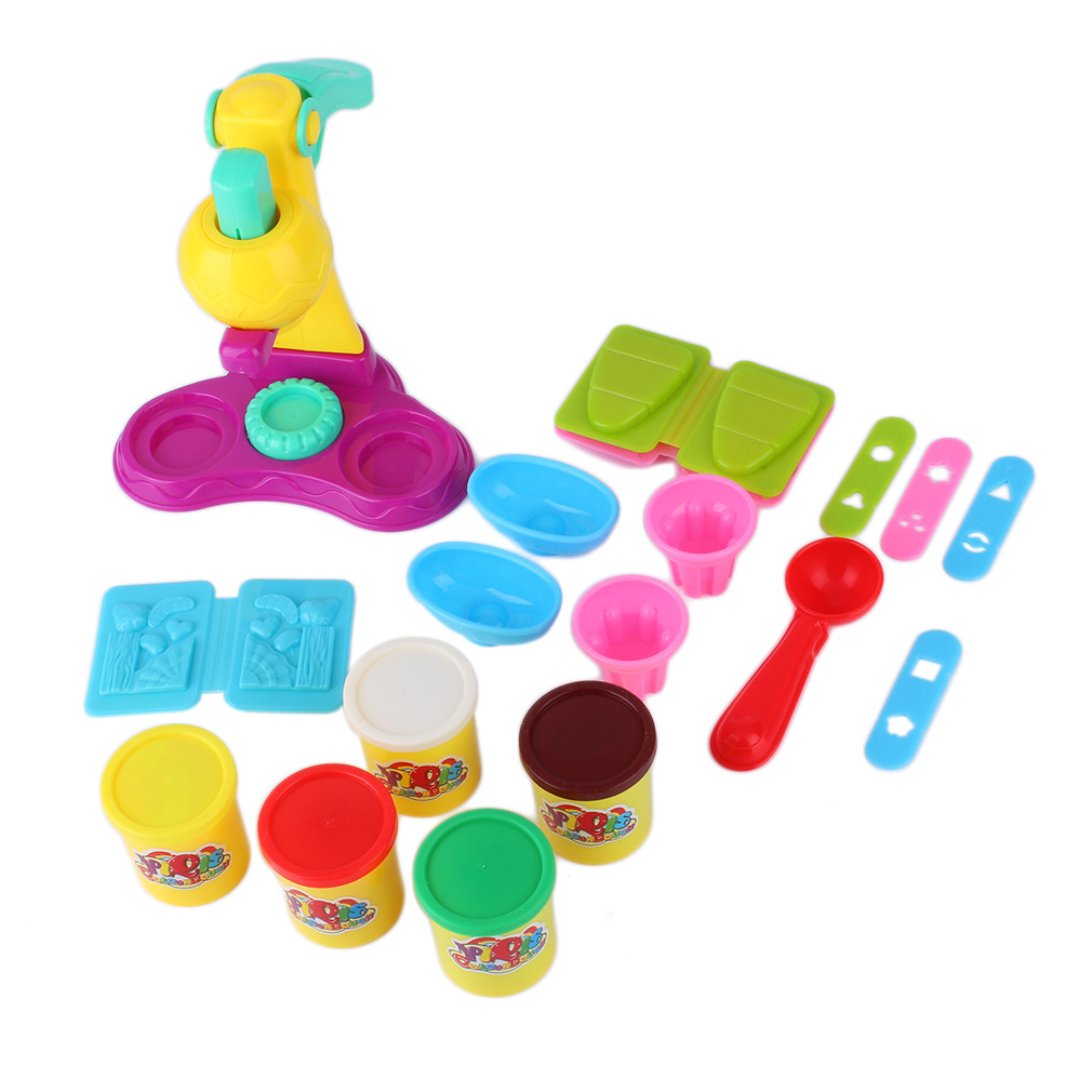 DIY Rubber Mud Ice Cream DoubleTwister Maker Pretend Play Kids Children Toy
