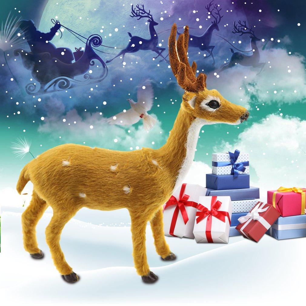 Lovely Simulation Reindeer Christmas Ornament Plush Deer Christmas Decorations