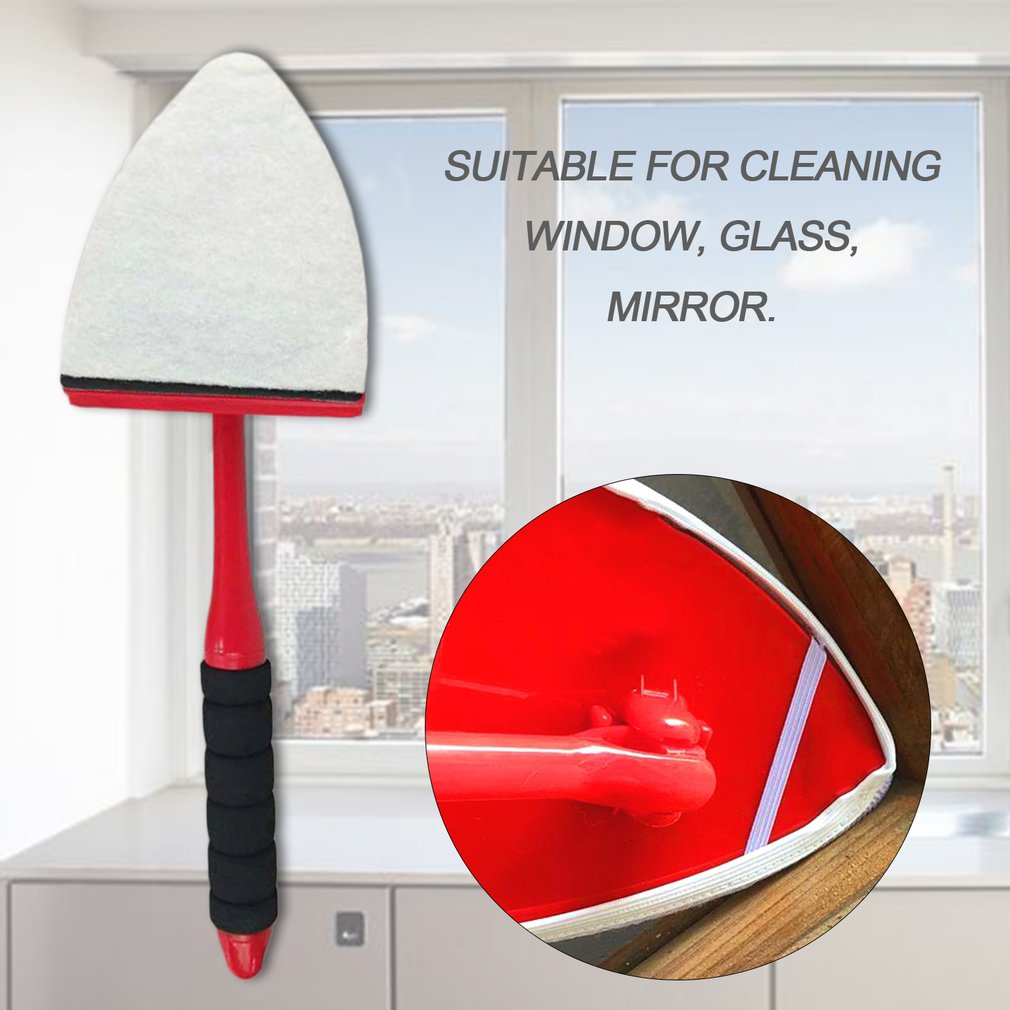 360 Degrees Rotation Window Cleaning Brush Adjustable Household Window Mirror Glass Cleaning Brush Easy Clean Kit Tool