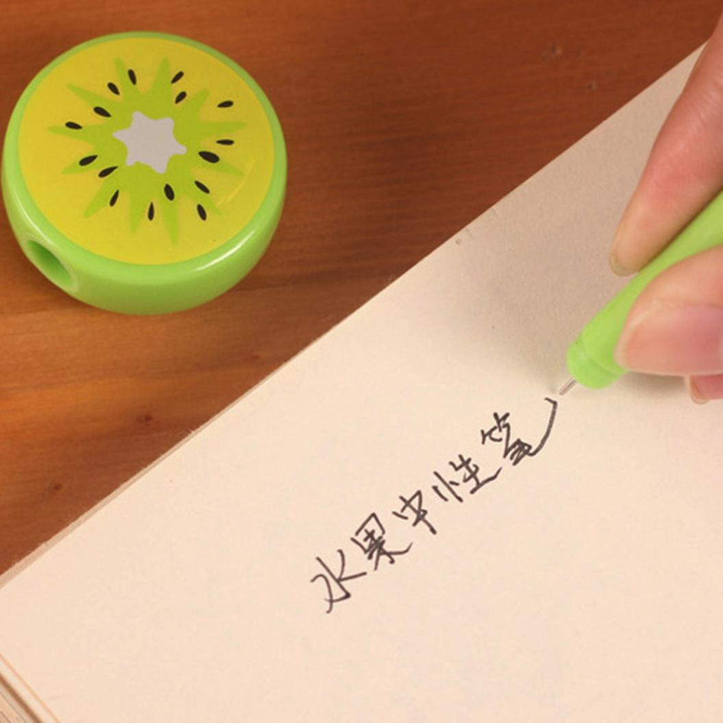 4Pcs Cartoon Fruit Ink Filled Gel Pen Writing Drawing Marker Kids Stationery