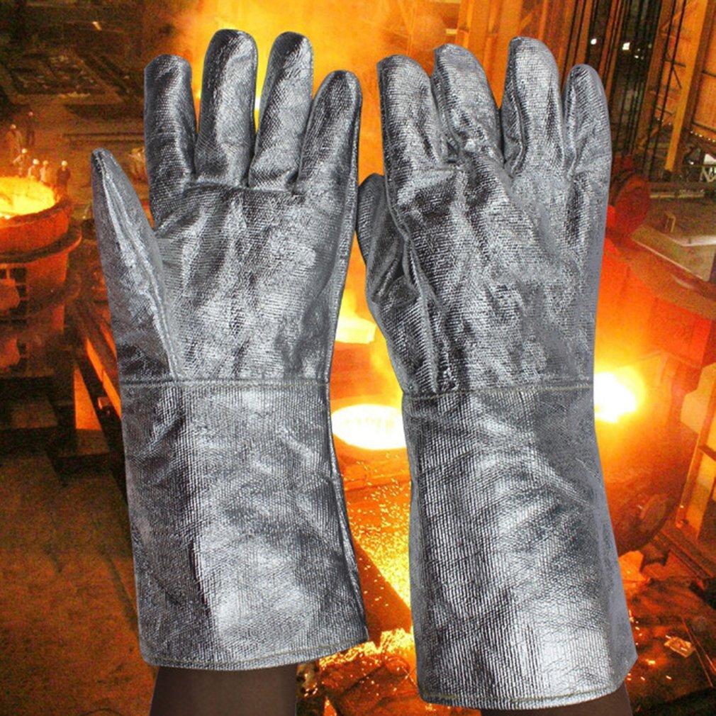 Aluminum Foil Fireproof Gloves Flexible Full Finger Heat Insulation Gloves