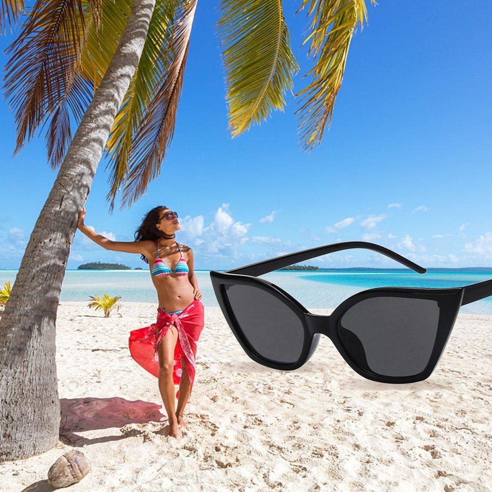 Vintage Design PC Frame Women Sunglasses Women Cat's Eye Sun Glasses Eyewear Ladies Travel UV Protective Glasses