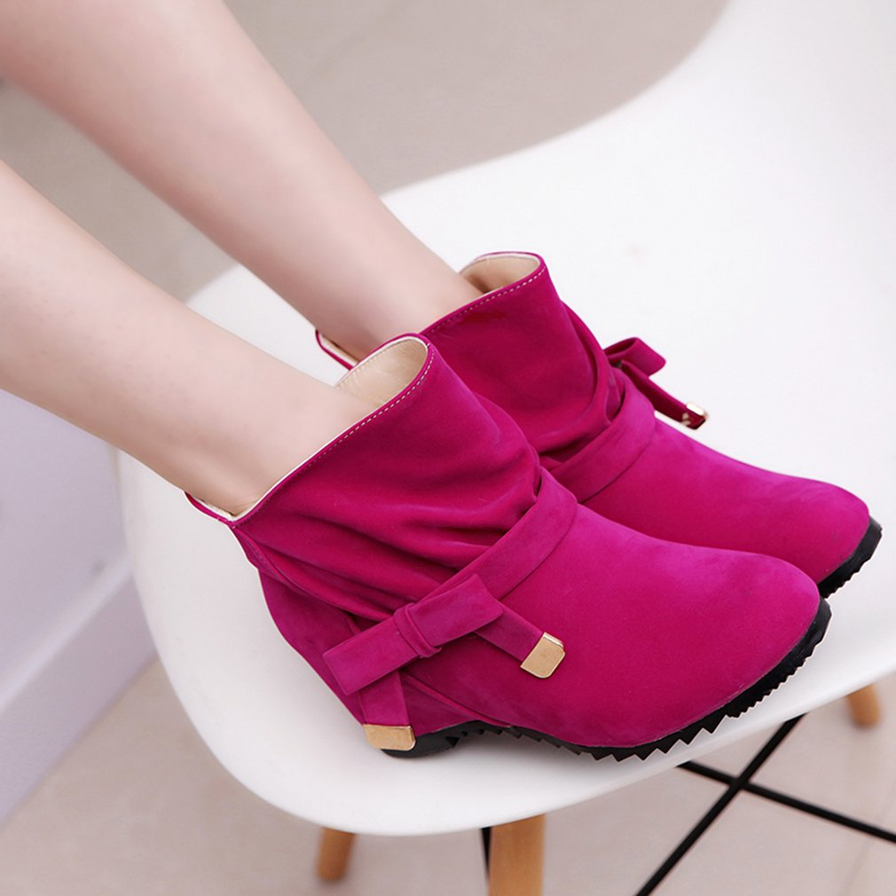 Lady Ankle Boots Wedge Heel Boots Snow Boots Short Martin Boots Solid Shoes