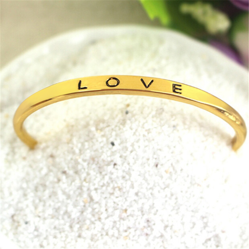 New Stainless Steel Screw Hand Fashion Love Wedding Cuff Bangle Bracelet